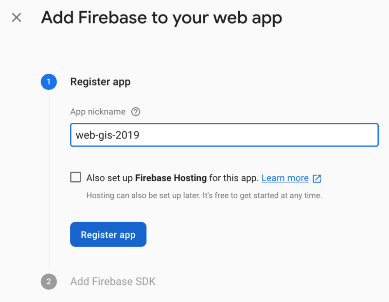 firebase add to web app